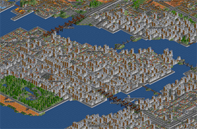 Saint Berdetta is painstakingly crafted over the course of a year during an internship in Afrika by an enthousiastic OpenTTD user. It is not often one can see towns designed with so much love. This just shows what magnificiently detailed scenarios are possible with 'little' time and effort.