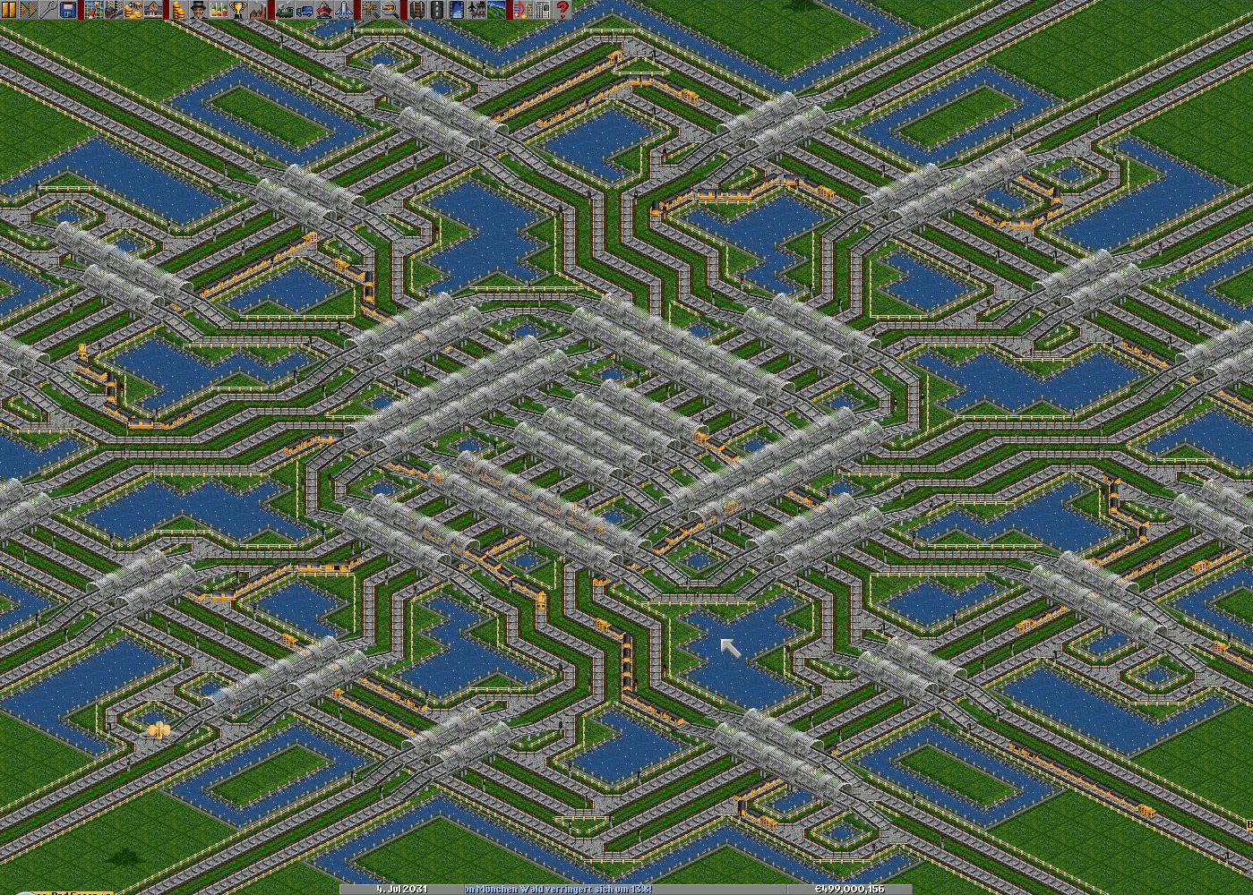 A maze for trains.