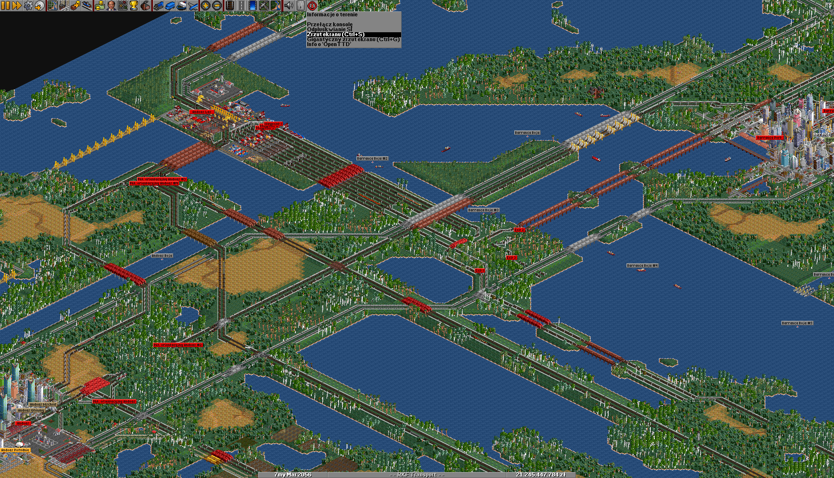 At the same time, organize the rail network to keep a good flow.