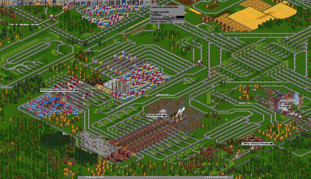 Industrial area with maglev services
