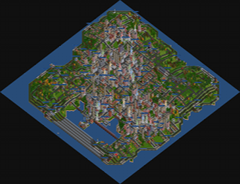 City located on a small island