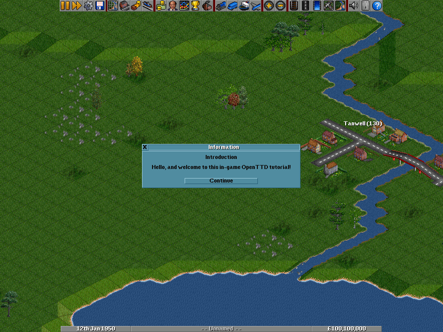 "Using a Game Script, and a pre-designed scenario, it is possible for anyone to create an in-game tutorial. This screenshot shows the ""Beginner Tutorial"". Click Play Scenario in your main menu and then use the Check Online Content button to download the tutorial."