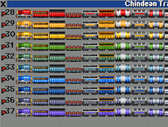 OpenTTD 1.9.0 added an awesome feature to set company colours per vehicle group.  Shown here with the Iron Horse train grf.