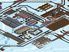 An above-the-snowline game featuring with densely clustered industries and lots of trams.