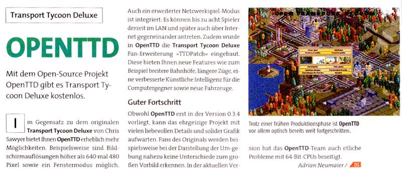 One of our first publications in the German magazine GameStar.